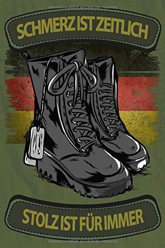 NOTIZBUCH Bundeswehr STIEFEL STOLZ Fußbus Beruf Soldat Soldaten Berufssoldat: Millimeterpapier kariert 5x5 mit 120 Blätter Notizbuch, Notizheft A5 (6x9 inches) Geschenk