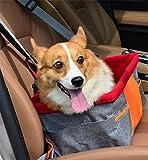 LAMEI Funda de Asiento para Mascotas Funda Protectora para Asiento Delantero Impermeable para Perros, Gray