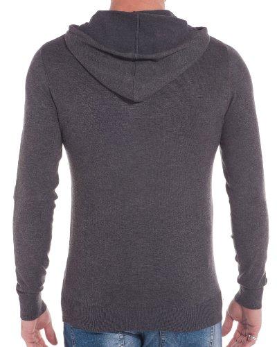 BLZ jeans - Pull à capuche gris foncé cintré Gris
