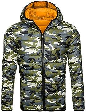BOLF Hombre Transitional Chaqueta De Sudor Chaqueta Deprotivo Chaqueta Hood Estilo militar 4D4 Motivo
