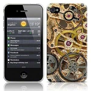 Consumer Store® - Coque Housse Image Engrenage Mécanique Horloge Brillant pour IPHONE 4 4S