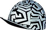 CYCLING CAP EKEKO Labyrinth . Weiß/Schwarz, VINTAGE