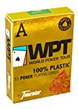 Fournier WPT Gold Edition, mazzi di carte da poker in plastica, colore: blu