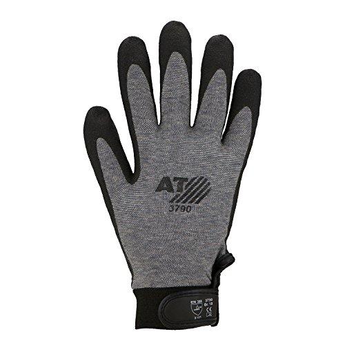 Asatex 3790 10 Gants finement tricotés avec revêtement HPT, Noir, Taille 10