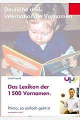 Lexikon der 1500 Vornamen Kindle Ausgabe
