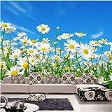 Svsnm Benutzerdefinierte Fototapete 3D Gänseblümchen Schlafzimmer Wohnzimmer Tv Hintergrund Wandbild Vlies Moderne Große Wandmalerei Blumen