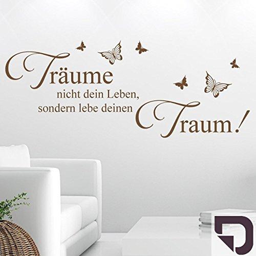 DESIGNSCAPE® Wandtattoo Träume nicht dein Leben, sondern lebe deinen Traum. 80 x 33 cm (Breite x Höhe) aubergine DW801034-S-F97