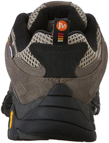 Merrell Men's Moab Ventilator in Grey & Rust Shoes J87731 [UK 8 EU 42]