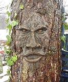 garden mile Realistisch holz Geschnitzt Hobbit Goblin Ungeheuer Gartenbaum Vorderseite Mystisch Fantasie Garten Baumdekoration Garten Skulptur - Hellbraun