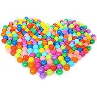 Vococal - Bolas de Plástico Suave Llena de Aire para Piscina de Pelotas,Casas de Rebote,Tiendas de Juego,Casas de Juego (100 bolas, Colorido)