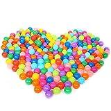 Jouet Balle,Balles de Jeu en Plastique,100 Pcs Enfants Bébés Colorful Plastique Souple Rempli d'air Pit Balls Jouer pour Ball Pits Bounce Houses Jouer Tentes...