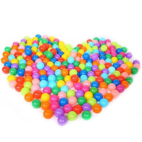 Jouet Balle,Balles de Jeu en Plastique,100 Pcs Enfants Bébés Colorful Plastique Souple Rempli d'air Pit Balls Jouer pour Ball Pits Bounce Houses Jouer Tentes Kiddie Piscines Maisonnettes