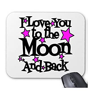 Acen I Love You to The Moon and Back Individuelle Computer Dekoration Rechteck Maus Pad