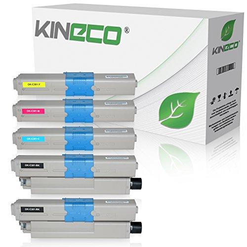 Preisvergleich Produktbild 5 Toner kompatibel zu OKI C301 C321 DN MC-332 DN 340 Series 342 DN DNW - 44973536 44973535 44973534 44973533 - Schwarz je 2.200 Seiten, Color je 1.400 Seiten