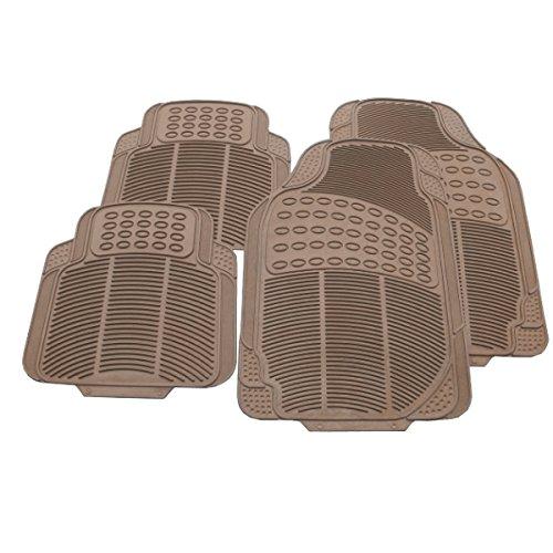 Preisvergleich Produktbild Akhan FUM04G - Fußmatten Set Beige Gummi 4-Teilig