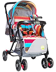 Tiffy & Toffee 3 IN 1 Baby Stroller/Pram with Reversible Handle, 0-3 Yr (Multi Colour)