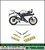 Kit adesivi decal stikers YAMAHA YZF R125 2013 MOTO BIANCA (ability to customize the colors)