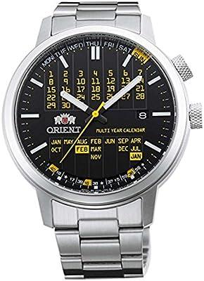 Orient–Reloj automático Calendario plurianual elegante cartucho amarillo er2l002b