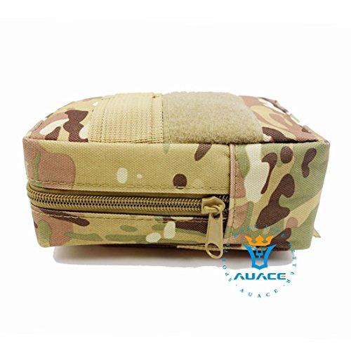Multifunktions Survival Gear Tactical Beutel MOLLE POUCH erkennen Bag, Outdoor Camping Tragbare Travel Bags Handtaschen Werkzeug Taschen Waist Bag Handy Pouch CP