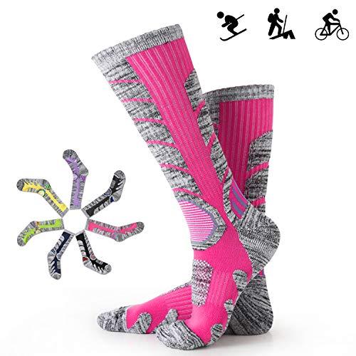 Skisocken Skistrümpfe Herren Damen warme für Wintersport Skifahren Snowboard Comfort atmungsaktive Antibakteriell Geruchshemmend 35-43 7 Farben