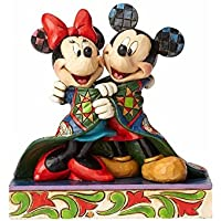 Enesco Disney Traditions Figurita Cálidos Deseos Mickey Y Minnie Mouse, Resina, 11x11x13 cm