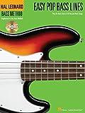 Hal Leonard Bass Method: Easy Pop Bass Lines Bass Guitar Book/CD