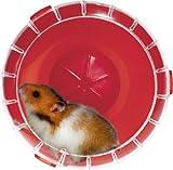 RodyLounge, ruota silenziosa per gabbia, colore rosso scuro, Silent Wheel, diametro 14cm circa (criceti e gerbilli). Verificare che sia la dimensione adatta al tuo animale.