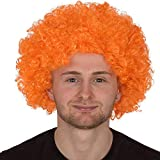 REDSTAR FANCY DRESS Erwachsene Lockig Afro Perücke Multifarben Party Clown Perücken Kostüm Zubehör - Orange, One Size