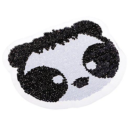 MagiDeal Pailletten Stickerei Panda Kleidung Patches Applikation für T-Shirt Jeans Kleidung Taschen...