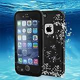 REDPEPPER IPx8 Wasserdichte Hülle Handyhülle Staubdichte Stoßfeste Schneeschutzanlage Handy Tasche für iPhone 6 ,Schwarz
