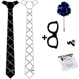 #5: COCO CHANEL Reversible Matte Black & White HexTie Homme Kit (With Box & Cleaning Wipe)