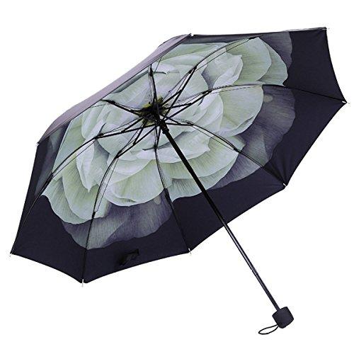 Anti-UV Kompakt Falten Premium Stahl Verstärkt Winddicht Rahmen Wasserdicht Reise Regenschirm ,11