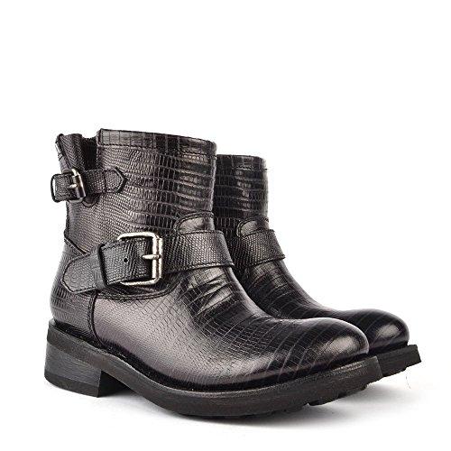 Ash Leder Schwarz Boots Aus Trick Damen 6wCxzrt6q