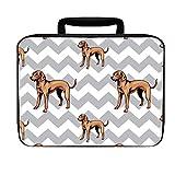 Vizsla Dog Gray Zigzag Insulated Lunch Box Bag