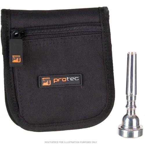 Protec Etui für 2 Trompeten-Mundstück schwarz