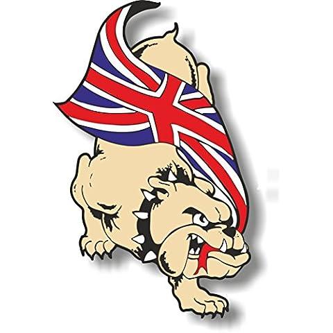 Skin adesiva/decalcomania, motivo bandiera del Regno Unito, Bulldog, verso destra