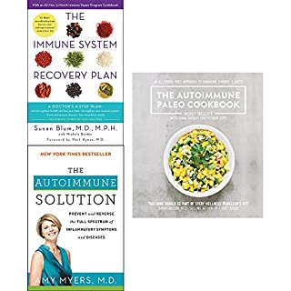 Immune system recovery plan, autoimmune solution and autoimmune paleo cookbook 3 books collection set