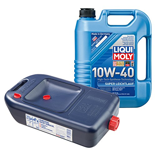 LIQUI MOLY Super Leichtlauf Motoröl 10W-40 5L 1301 + Ölwechsel Kanister 7055