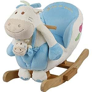 babyschaukeltier ponny bleu b b avec assise rembourr e kuschelfell b b animal balan oire. Black Bedroom Furniture Sets. Home Design Ideas
