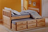 3'0 Captains bed with underbed + storage