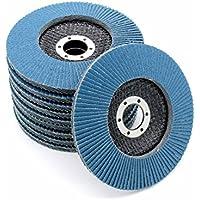 10x Inox–Disco abrasivo Ø125mm azul | grano 40