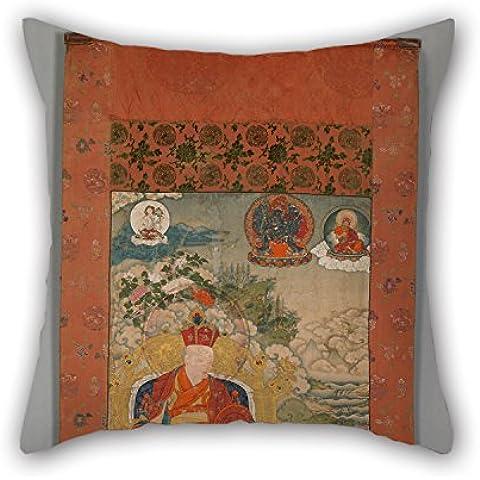 slimmingpiggy pintura al óleo el décimo Karmapa–situ Panchen Chokyi jungne (1699–1774) funda de almohada 16x 16