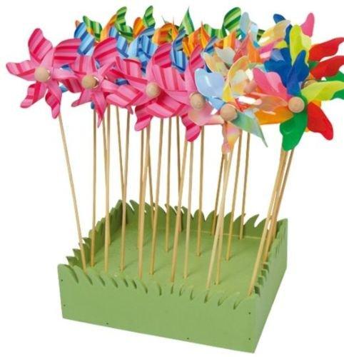 Legler 6149 windräder im 24er Set, schöne Gartendeko in Blumenkübeln und Beeten