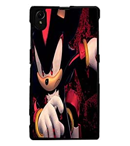 ColourCraft Angry Cat Design Back Case Cover for SONY XPERIA Z1