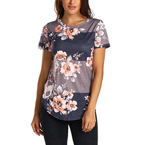 TITIU DamenLässige Plus Size Floral Lace Insert Tank Top Bluse T-Shirt Tee Oberteil(Mehrfarbig,M) (Sexy Lace Insert)