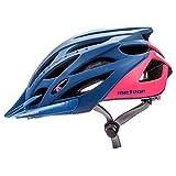 meteor® Fahrradhelm Marven: Erwachsene Unisex & Jugendhelme Rad Helm für Radfahrer Radsport; für Hoverboard, Inline-Skate, BMX Fahrrad, Scooter L 58-61 cm Teal/Coral