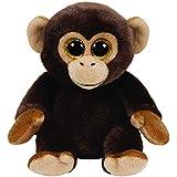 TY - Classics Bananas, chimpancé de peluche, 23 cm, color negro (90224TY)