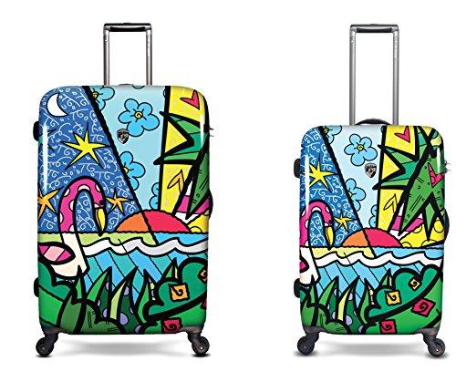 Sets de Bagages, valises - Première Classe Valise Rigide Set 2 pièces - Heys Artistes Britto Palm Trolley avec 4 Roues Mèdias + Trolley avec 4 Roues Grand