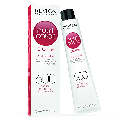Revlon Professional, Nutri Color Crema per capelli 600 Rosso fuoco, 100 ml