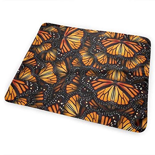 Voxpkrs Heaps of Orange Monarch Butterflies Baby Crib Pee Changing Pad Mat Mattress Protector for Toddler Kids Infant Pets (Handys Heap)